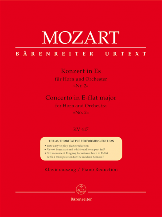 Concerto for Horn und Orchestra no. 2 E-flat major  K. 417