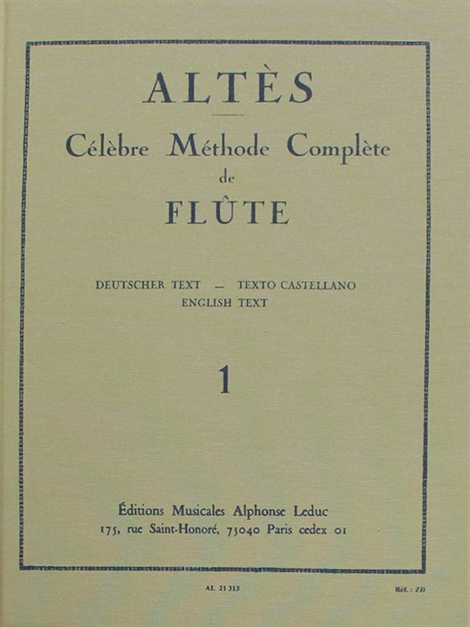 Altes - Methode de Flute Vol1