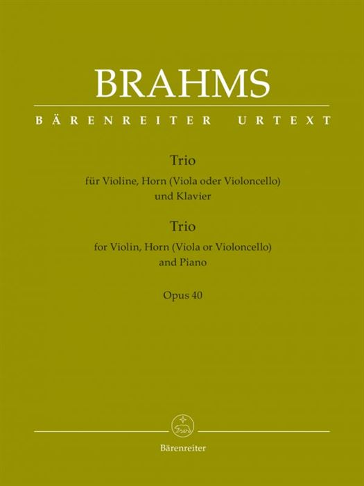 Trio for Violin, Horn (Viola or Violoncello) and Piano op. 40