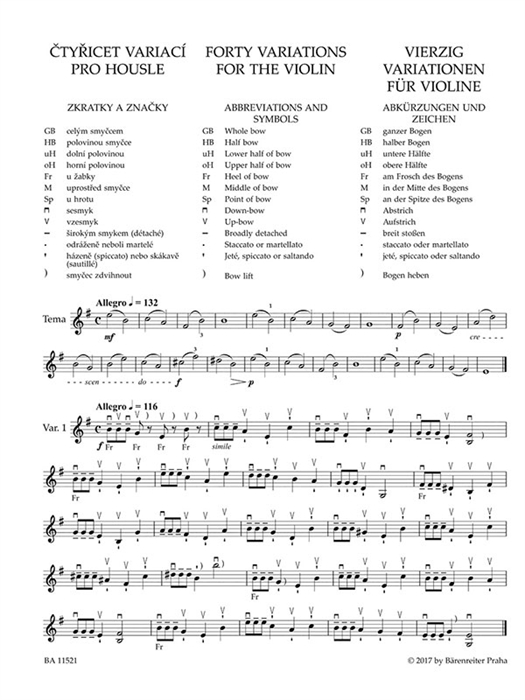 Sevcik - Forty Variations for the Violin op. 3