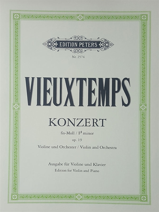 Vieuxtemps - Concerto Nr. 2 for Violin and Orchestra Op.19 F# minor (piano reduction)