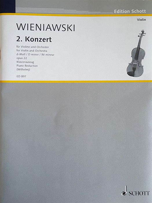 Wieniawski Concerto for Violin No.2 Op.22 in D minor (piano reduction)
