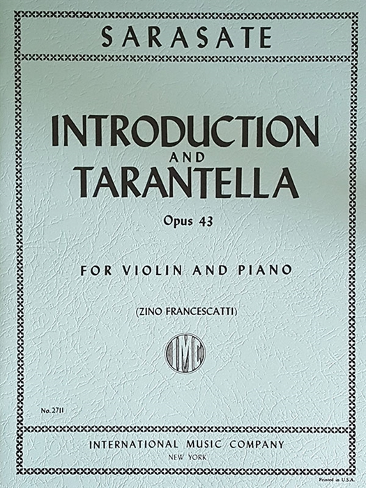 Sarasate - Introduction and Tarantella