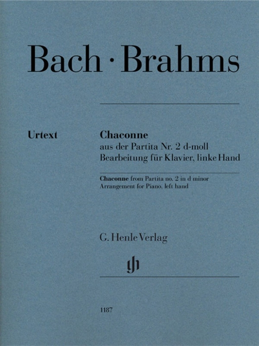 Bach - Brahms - Chaconne from Partita no. 2 d minor, Arrangement for Piano, left Hand