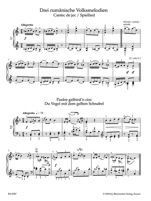 Bartok - Easy Piano Pieces and Dances