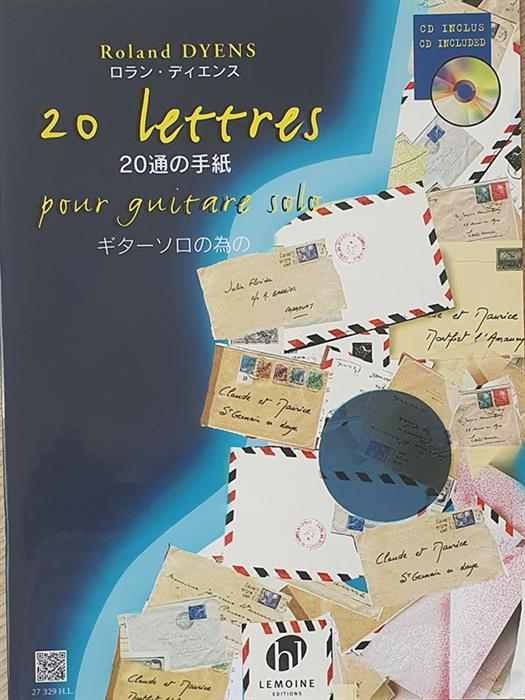 Roland Dyens - 20 Letters for Guitar Solo (Book+CD)