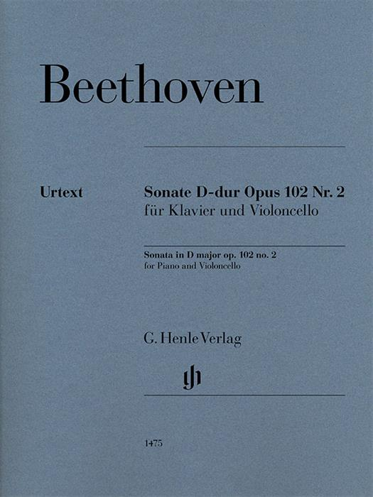 Beethoven - Sonata in D major op. 102 No.2 for violoncello and piano