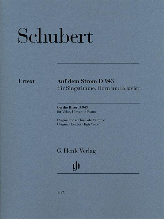 Schubert -  On the River D 943 for Voice, Horn (Cello) and Piano for High Voice
