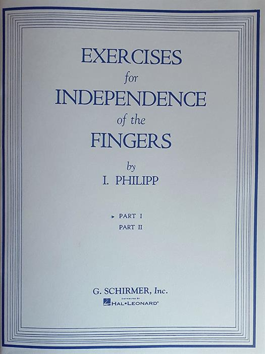Isildor - Exercises for the Independence of Fingers Book1